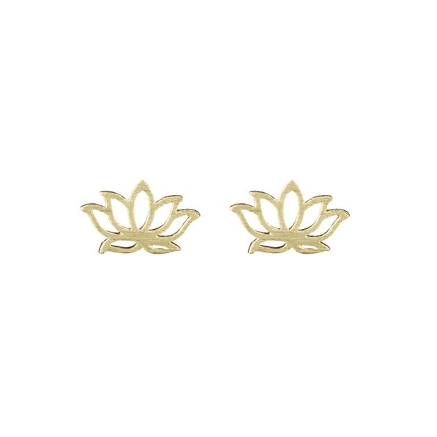 Short Story Disney Earring Jasmine Lotus Gold - gold