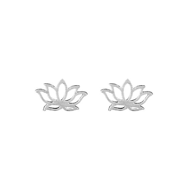 Short Story Disney Earring Jasmine Lotus Silver - silver
