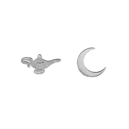 Short Story Disney Earring Jasmine Lamp And Moon Silver
