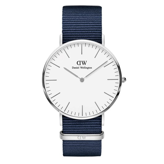 Daniel Wellington Classic 40mm Bayswater Silver White Watch
