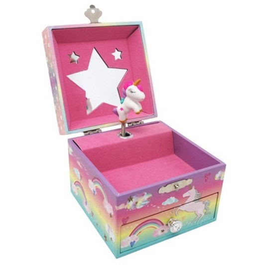 Pink Poppy Jewellery Music Box Cotton Candy Unicorn Small