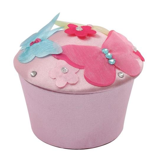 Pink Poppy Apple Blossom Cupcake Trinket Box