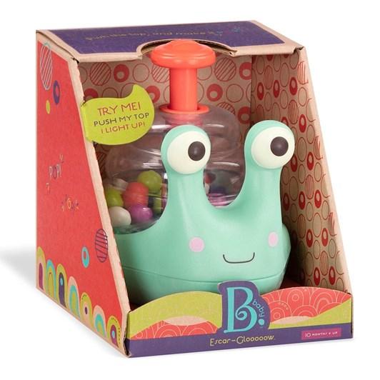 B Toys Rolling Light-Up Snail Popper