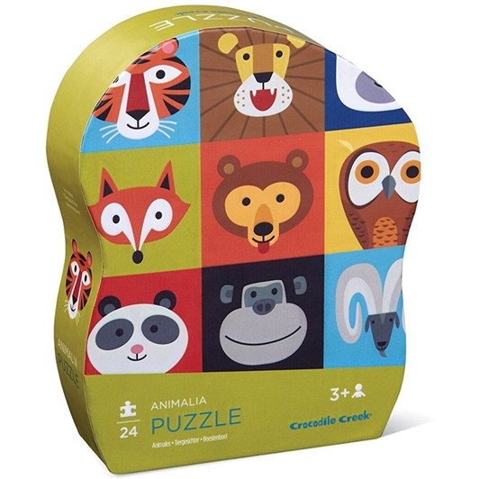 Croc Creek Mini Puzzle Animalia 24pc