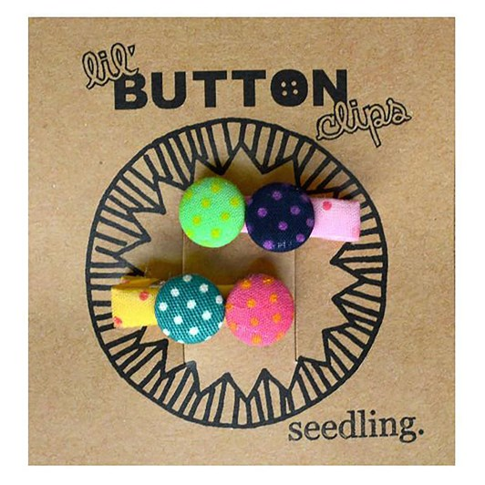 Seedling Lil' Button Hairclips