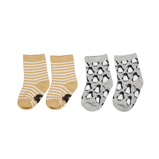 Huxbaby Stripe / Penguin Socks 2Pk