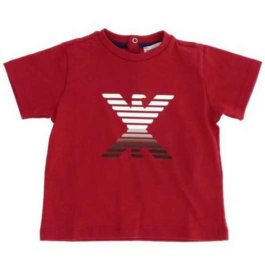 Emporio Armani Jersey T-Shirt with Mirror-Effect Eagle
