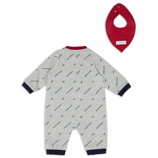 Emporio Armani Gift Set with Baby Suit and Bandana