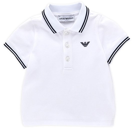 Emporio Armani Piqué Polo Shirt with Striped Trim