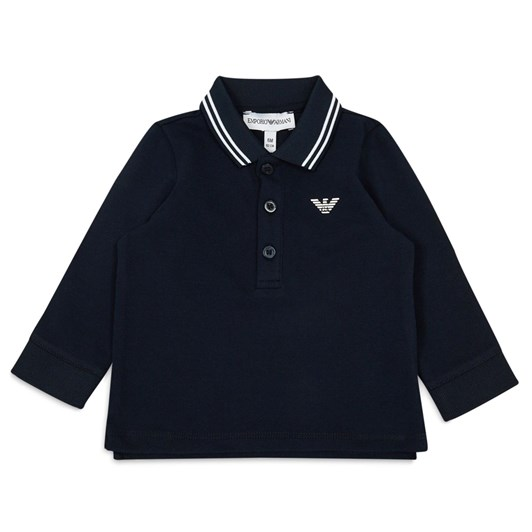 Emporio Armani Long-Sleeved Piqué Polo Shirt