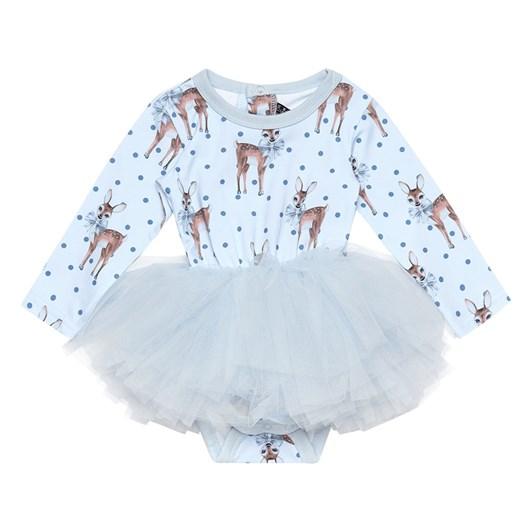 Rock Your Baby Deer Heart - Ls Flounce Dress