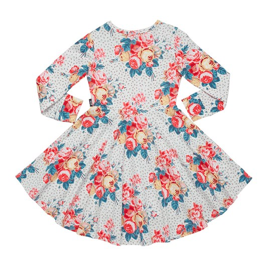 Rock Your Baby Antique Chintz - Ls Waisted Dress