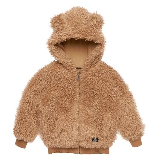 Rock Your Baby Caramel Sherpa - Bear Hoodie