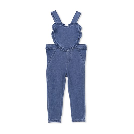 Milky Denim Heart Overall