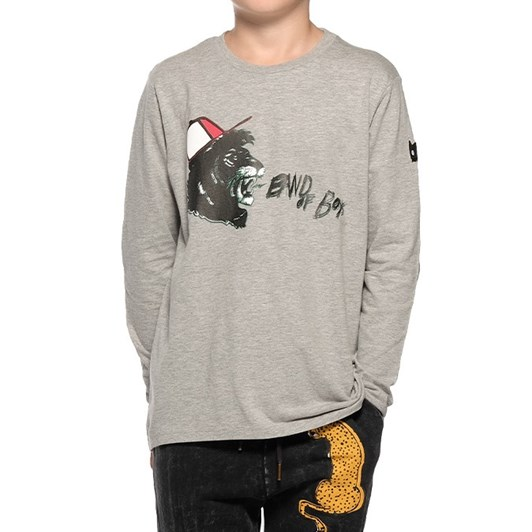 Band Of Boys Ls Tee Shouting Lion Asymmetric