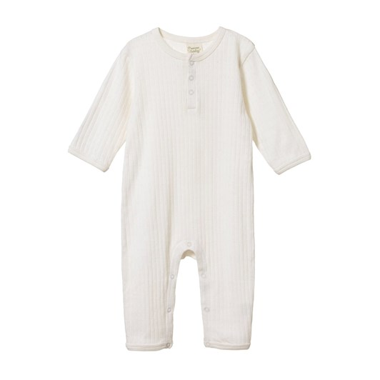 Nature Baby Pointelle Henley Pyjama Suit