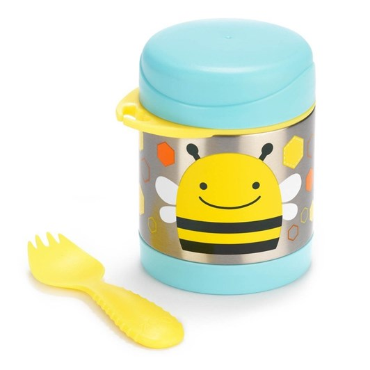 Skip Hop Zoo Insulated Little Kid Food Jar Bee
