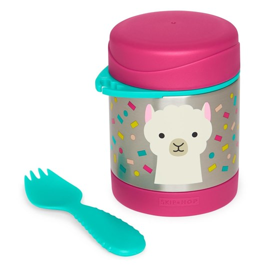 Skip Hop Zoo Insulated Little Kid Food Jar Llama