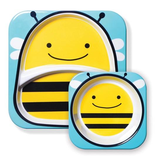 Skip Hop Zoo Melamine Plate & Bowl Set Bee