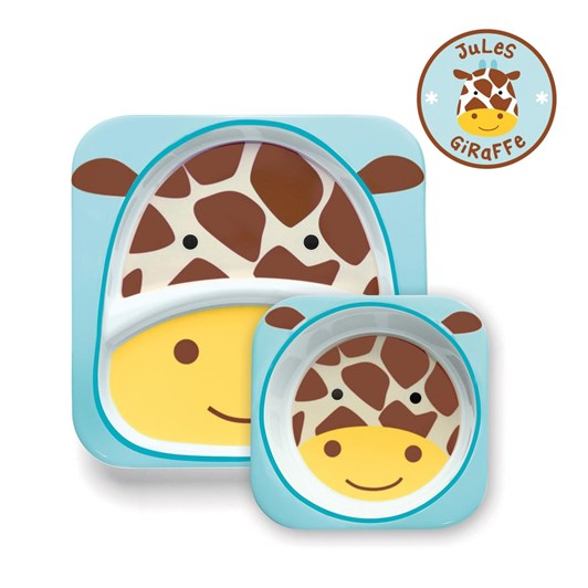 Skip Hop Zoo Melamine Plate & Bowl Set Giraffe