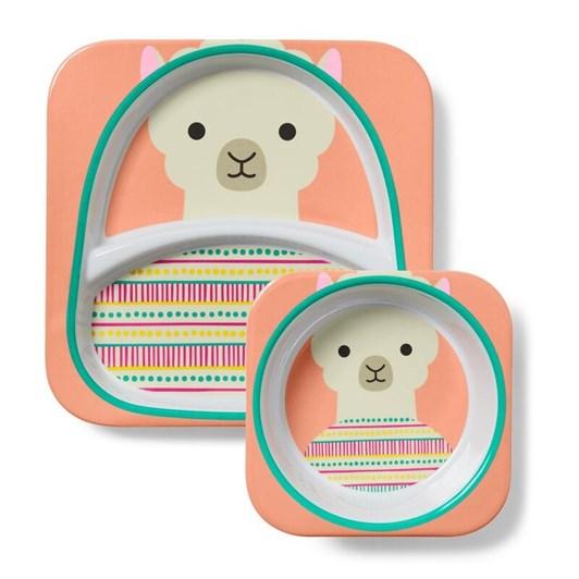 Skip Hop Zoo Melamine Plate & Bowl Set Llama