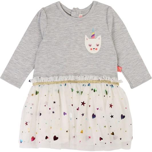 Billieblush Tulle and Fleece Dress 3M-2Y