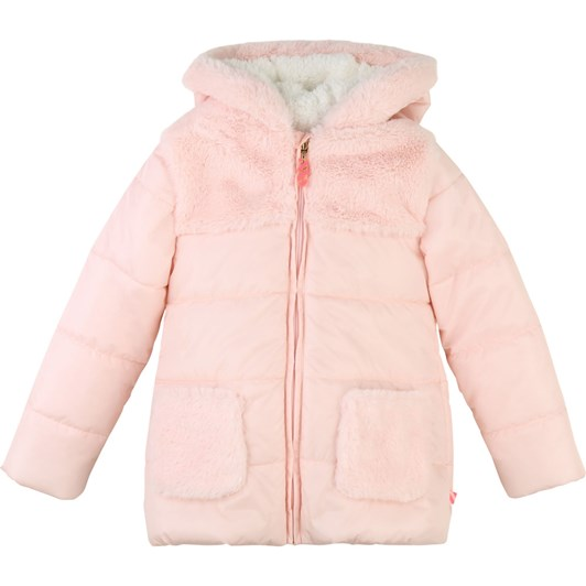Billieblush Hooded Winter Jacket with Faux Fur 3-8 Years