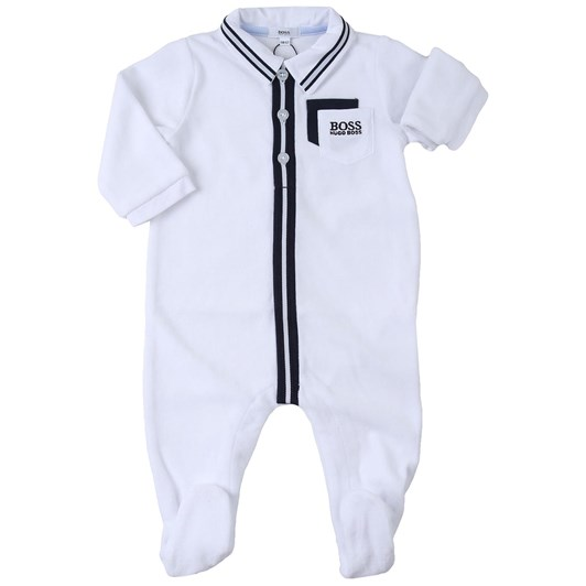 Hugo Boss Velour Pyjama Suit and Bib