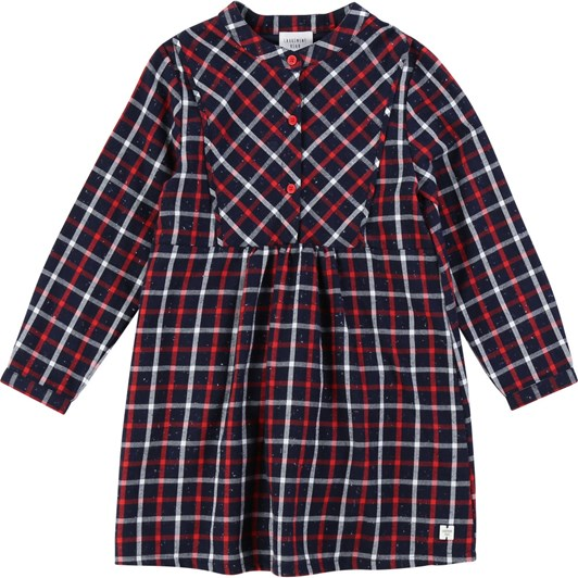 Carrement Beau Cotton Flannel Dress 3-8 Years