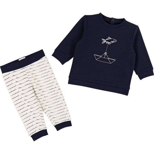 Carrement Beau Cotton Sweatshirt Trouser Set