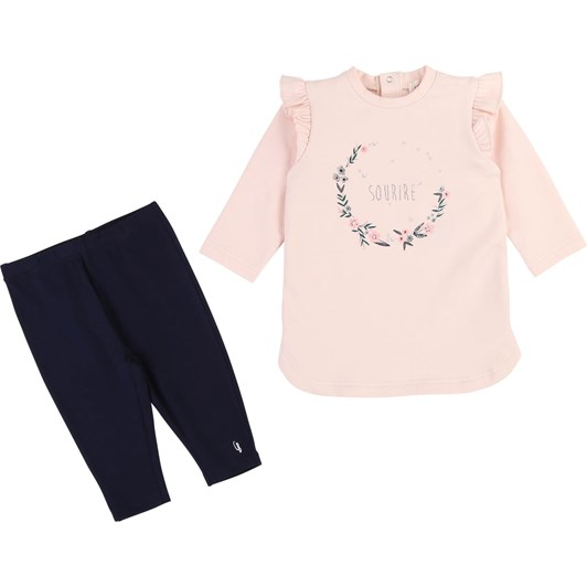 Carrement Beau Cotton Dress and Legging Set