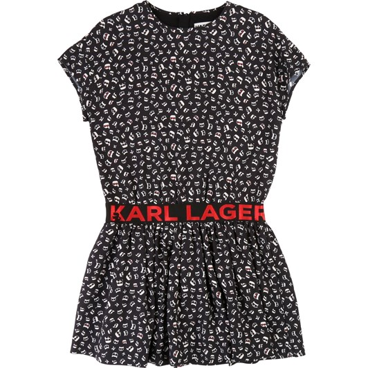 Karl Lagerfeld Short-Sleeve Printed Dress 6-8 Years