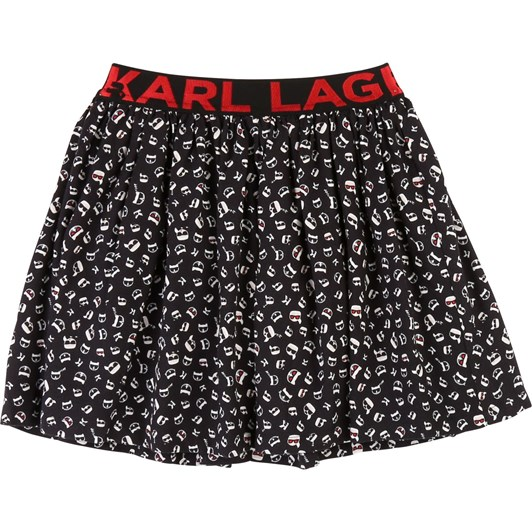 Karl Lagerfeld Printed Frilled Skirt 10-16 Years