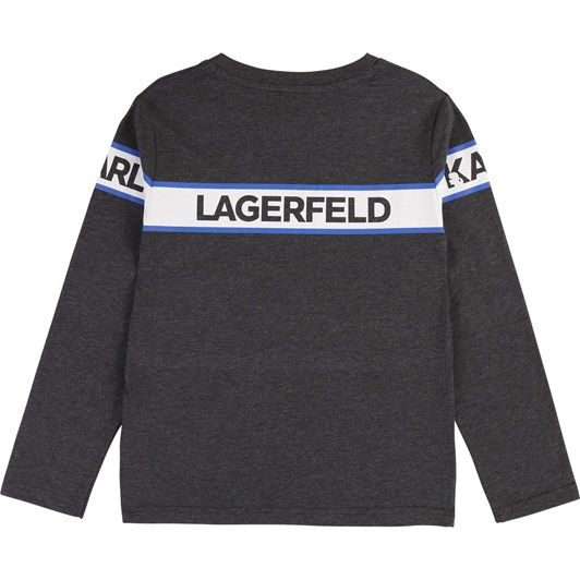 Karl Lagerfeld Long Sleeve Printed Cotton Top 10-16 Years