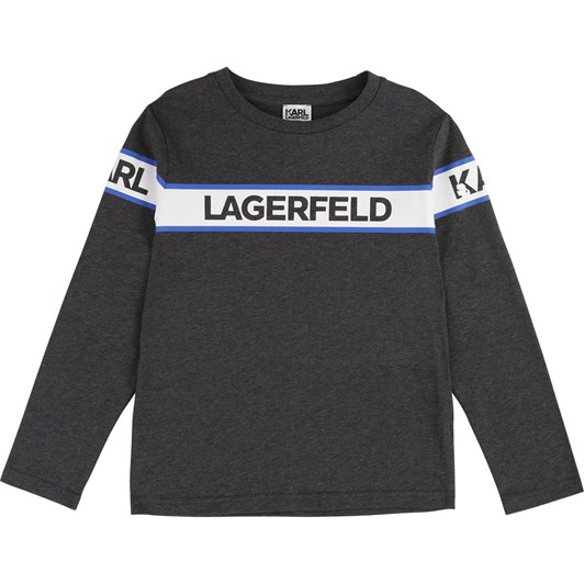 Karl Lagerfeld Long Sleeve Printed Cotton Top 6-8 Years