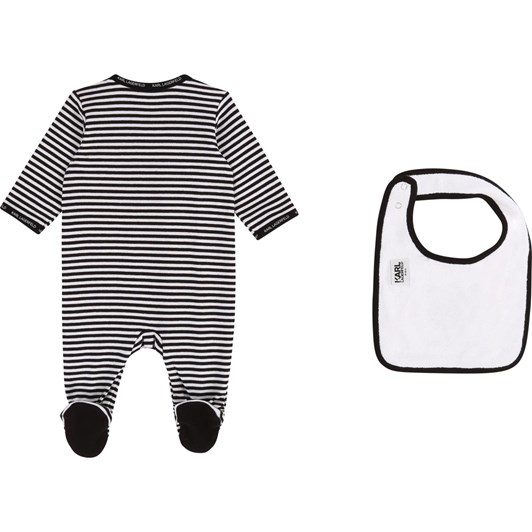 Karl Lagerfeld Babygrow and Bib Set