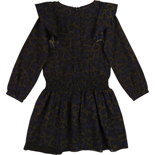 Zadig & Voltaire Long-Sleeved Frilled Dress 6-8 Years