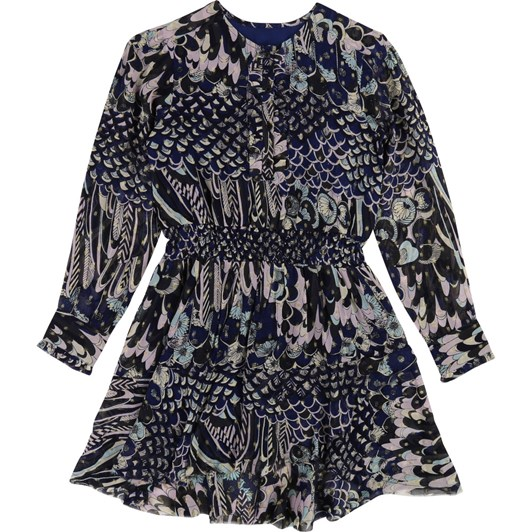 Zadig & Voltaire Printed Long-Sleeve Dress 6-8 Years