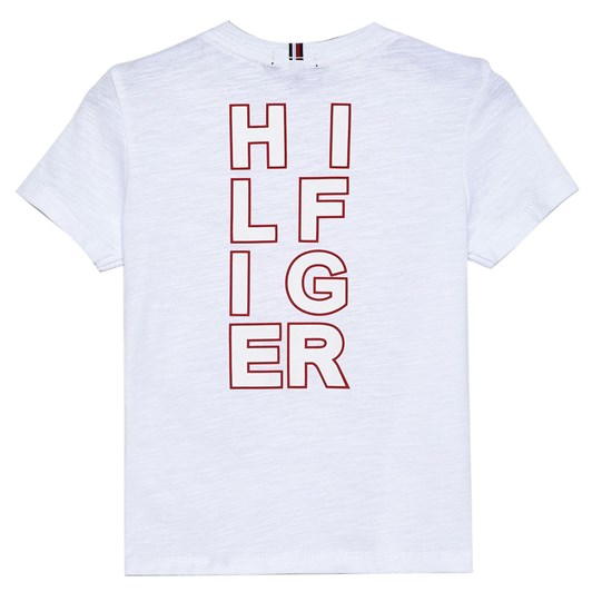 Tommy Hilfiger Organic Cotton Back Logo Print T-Shirt 3-8 Years