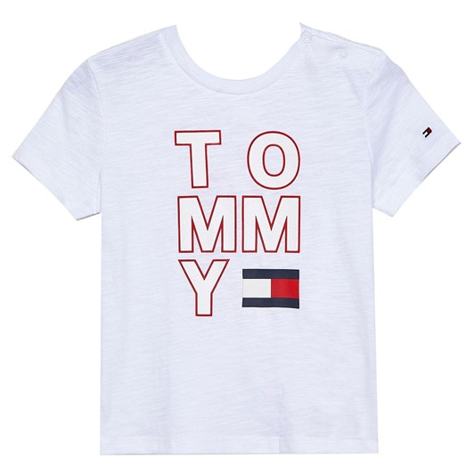Tommy Hilfiger Organic Cotton Back Logo Print T-Shirt 10-16 Years
