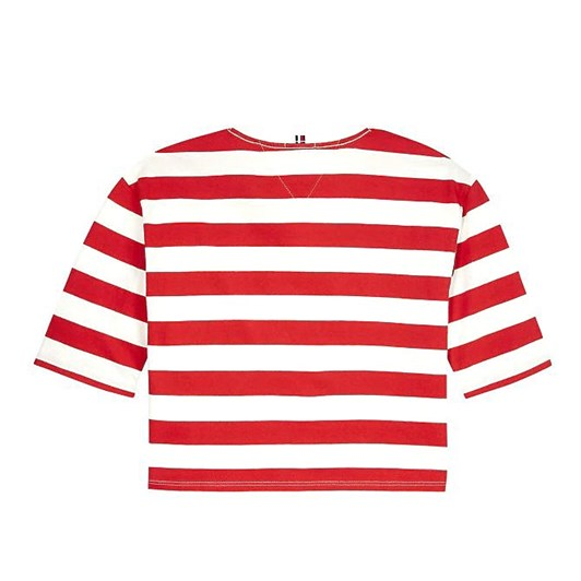 Tommy Hilfiger Organic Cotton Flag Stripe Cropped T-Shirt 3-8 Years