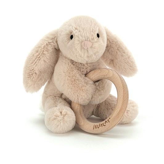 Jellycat Shooshu Bunny Wooden Ring Toy