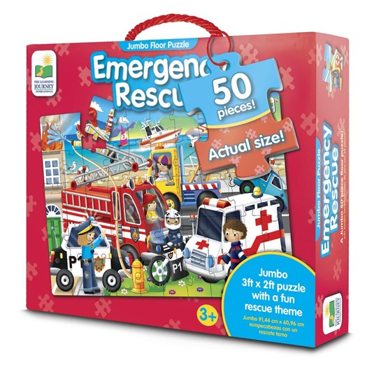 The Learning Journey Jumbo Floor Puzzle - Emergency Rescue