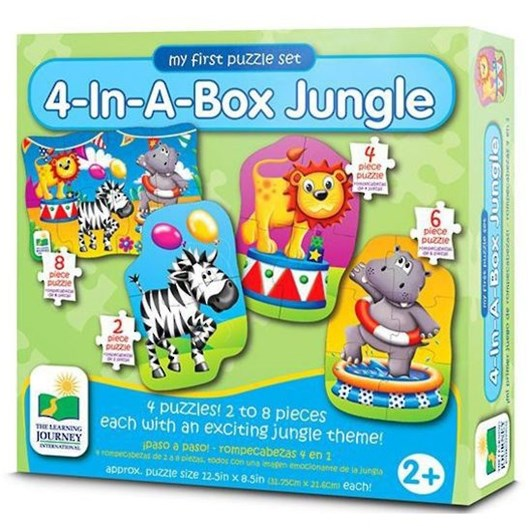 The Learning Journey Step Ups! 4 In A Box Puzzles Jungle