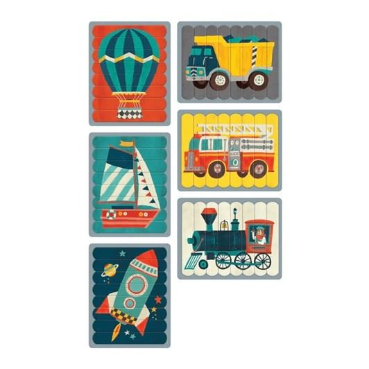 Mudpuppy Transportation Puzzle Sticks