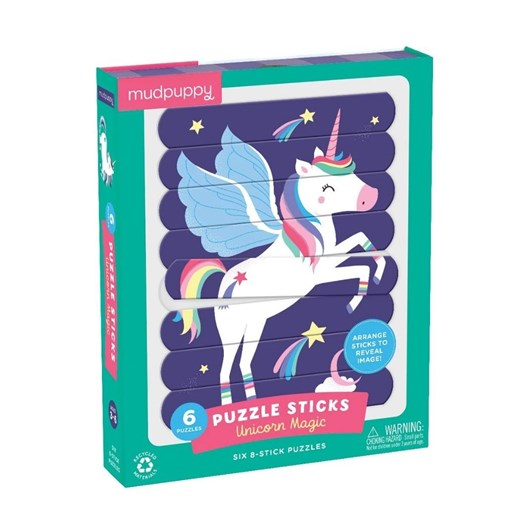 Mudpuppy Unicorn Magic Puzzle Sticks