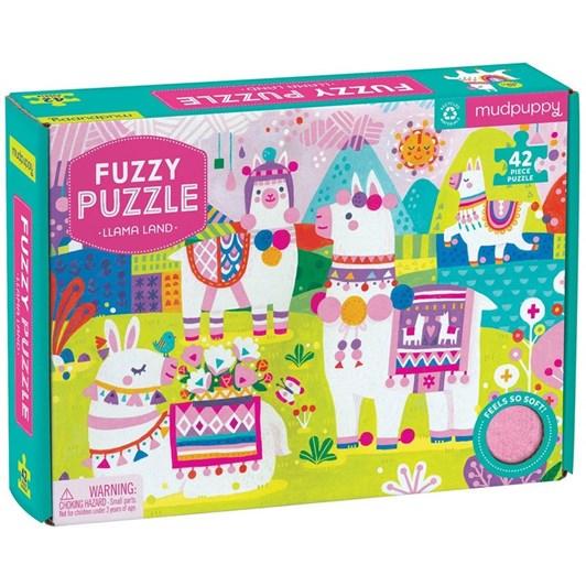 Mudpuppy Fuzzy Puzzle - Llama Land 42pc
