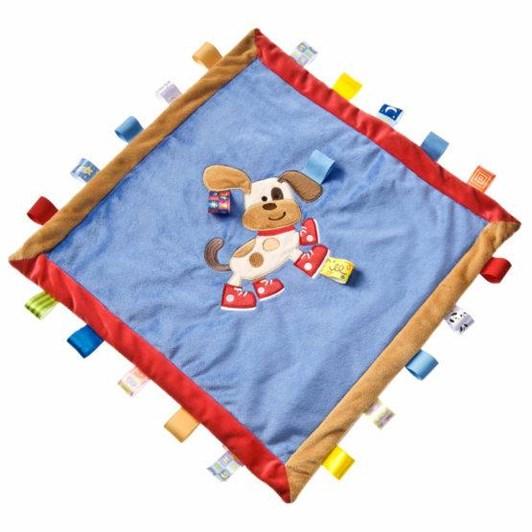 Lulujo Taggies Buddy Dog Cozy Blanket