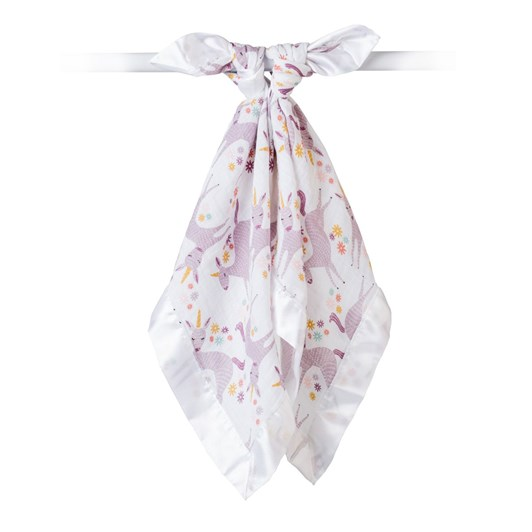 Lulujo Modern Unicorn Muslin Security Blanket 2 Pack