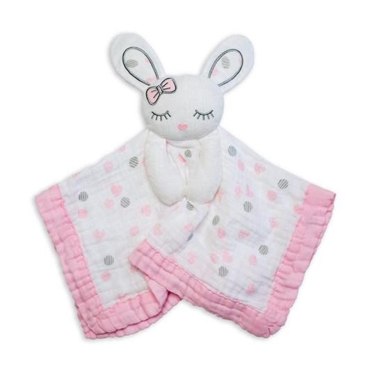 Lulujo Cotton Baby Lovies Pink Bunny